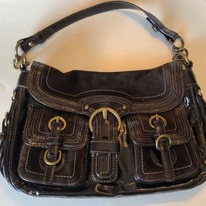 Coach Legacy Garcia Suede & Patent Leather Purse
